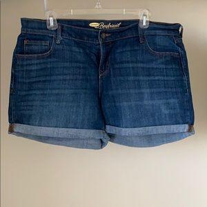 Folded Jean shorts
